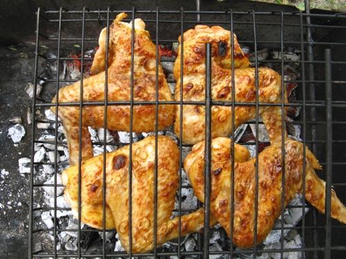Куриные крылышки на костре