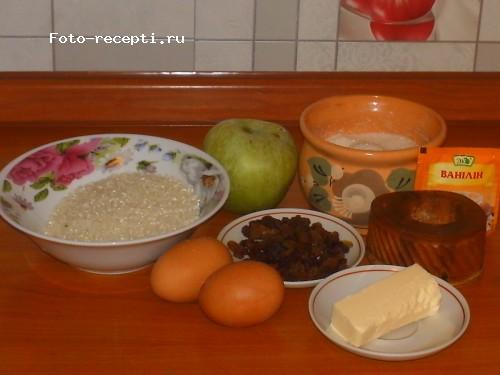 Бабка рисовая с яблоками и изюмом1.JPG