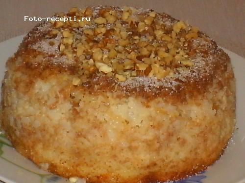 Бабка рисовая с яблоками и изюмом6.JPG