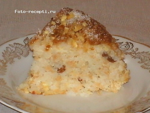 Бабка рисовая с яблоками и изюмом7.JPG