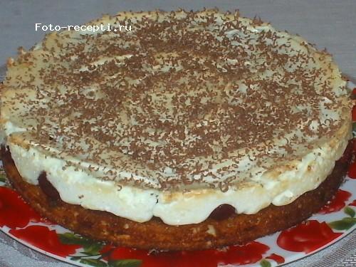Пирог вишня в снегу рецепт пошагово