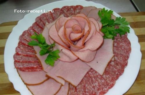 Пошаговая нарезка колбасы 49