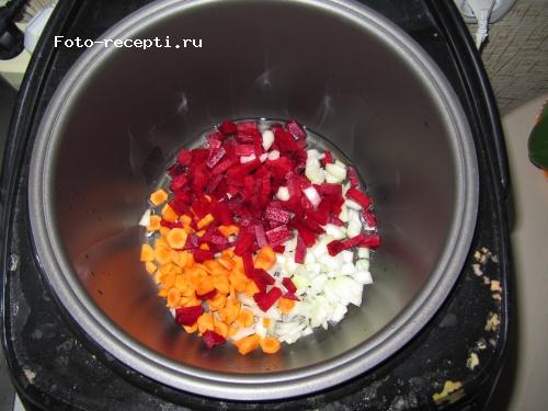 Борщ в мультиварке supra пошаговый рецепт с фото