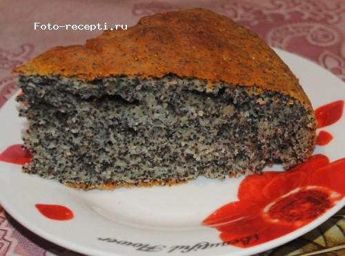 Подробный и вкусный рецепт макового пирога на телеканале еда фото, видео, описание.