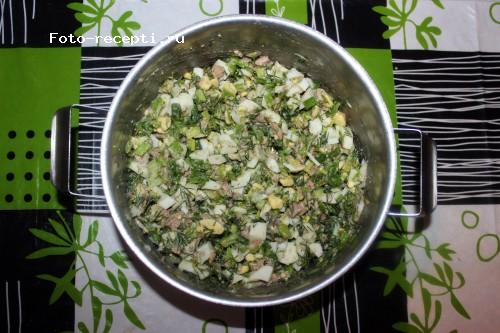 салат с печенью трески без майонеза рецепт с фото