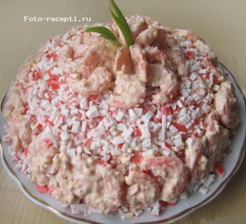 Салат с креветками ... - russianfood.com