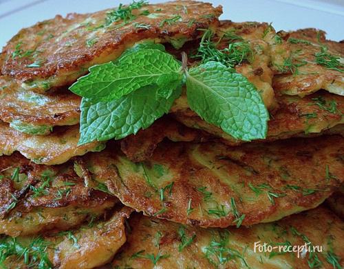рецепт кабачковых оладушек с фото
