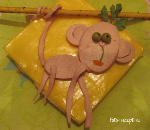 Бутерброды для детского праздника и завтрака детей