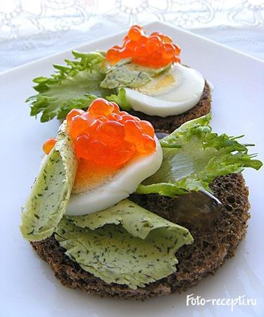 Бутерброды с красной икрой рецепт приготовления и украшение бутербродов с красной икрой с фото