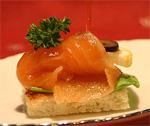 Канапе мясное-рыбное ассорти рецепт с фото