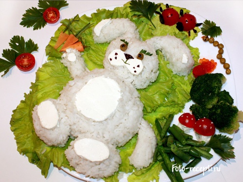Гарнир из риса и овощей
