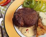 Рецепт стейка из говядины со сливочно-перечным соусом