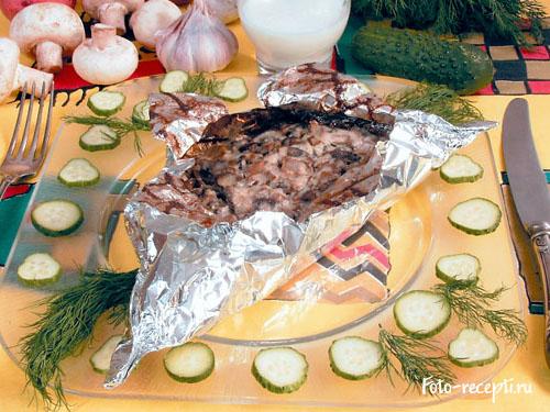 Рецепт приготовления говядины, запеченной в фольге