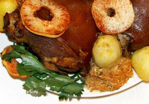 как приготовить свиную рульку в духовке рецепт