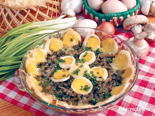 Грибы с яйцом рецепт с фото