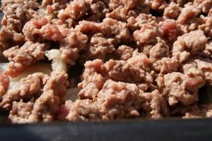 Salteado de calabacín con carne