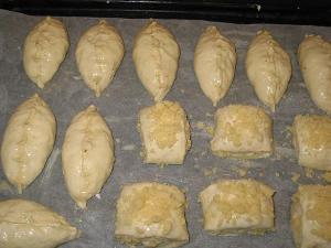 пирожки на кефире с мясом в духовке