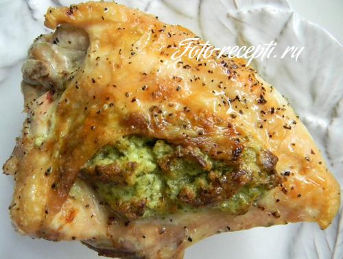Куриные грудки, фаршированные сыром и зеленью