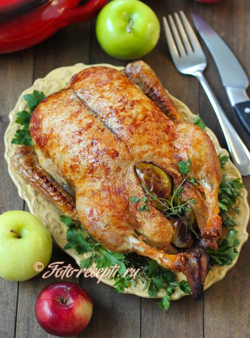 Что приготовить на Новый год: утка с яблоками