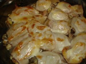 фаршированные кальмары с рисом и яйцом в духовке