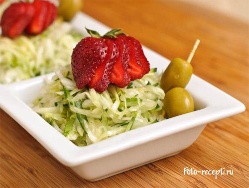 Салат из свежей капустой пошаговый рецепт 13