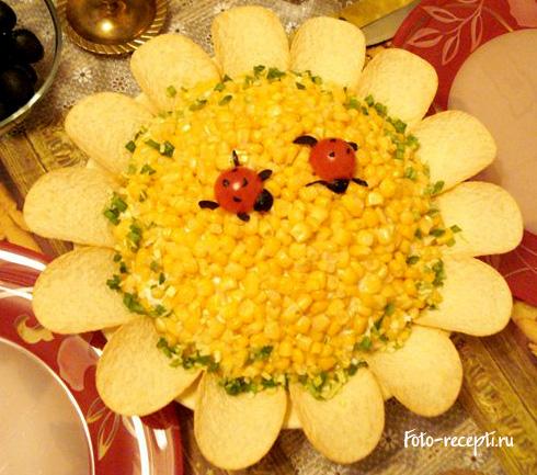 салат подсолнух рецепт приготовления салата подсолнух