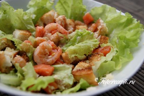 Классический салат с креветками рецепт с фото пошагово