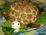 Салат Черепаха из курицы с яблоками рецепт приготовления пошаговый с фото