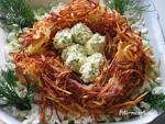 Салат Гнездо глухаря рецепт приготовления пошаговый