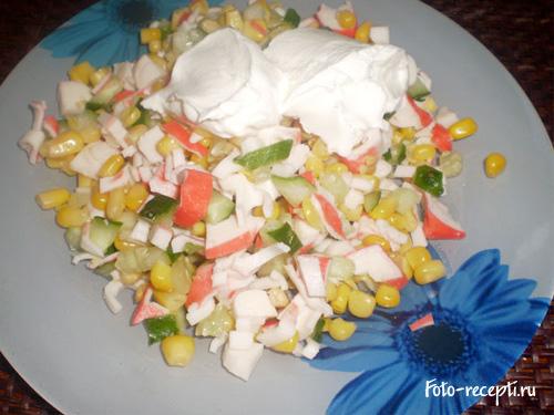 Рецепт крабового салата является