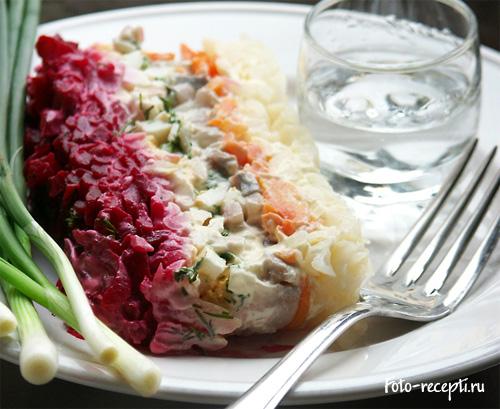 салат селёдка под шубой пошаговый рецепт с фото