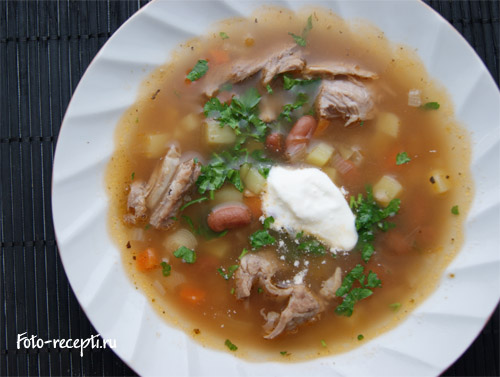 Супов с фасолью консервированной фото