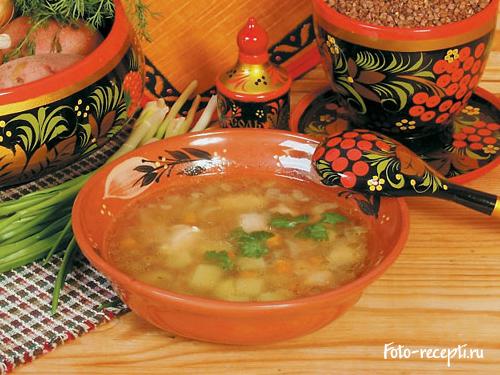 Рецепт приготовления куриного супа с гречневой крупой
