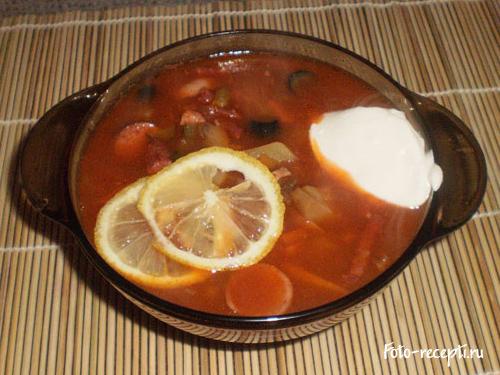 рецепт солянки мясной сборной классический пошаговый с картошкой