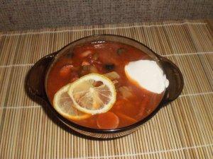 Рецепт солянки мясной