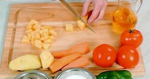 Receta para la sopa de calabaza y leche