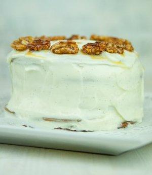 Tarta de miel (torta de miel) con vodka