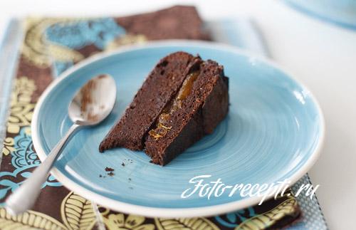 Шоколадный торт с абрикосовым