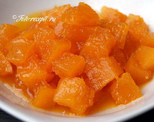 рецепт тыквы варенье