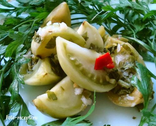 рецепты с зеленых помидоров приправы
