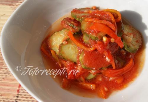 салат огурцы помидоры на зиму рецепты с фото