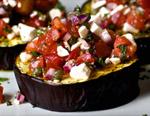 Салат с печеными баклажанами и свежими овощами от ресторана Ткемали, пошаговый рецепт с фото