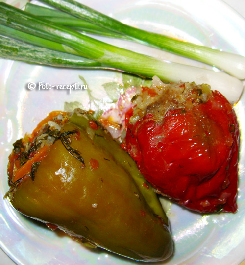 фаршированные перцы с фаршем и рисом в мультиварке пошаговый рецепт с фото