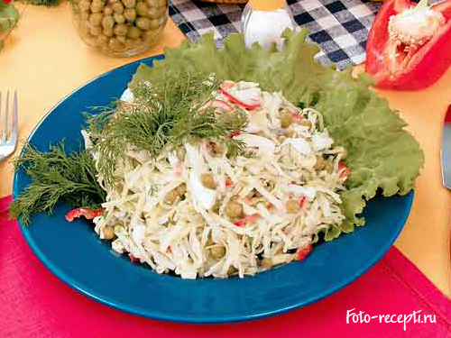 рецепт салата цезарь с белокочанной капустой