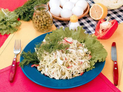рецепт осеннего салата с капусты с белокочанной