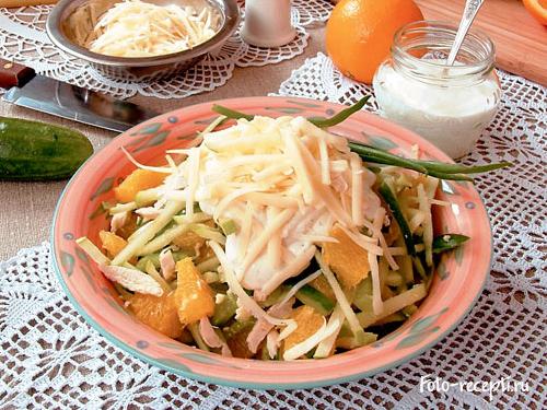 """Салат """"Гнездо альпийской птички"""" – кулинарный рецепт"""