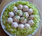 Закуска рисовые шарики с крабовыми палочками
